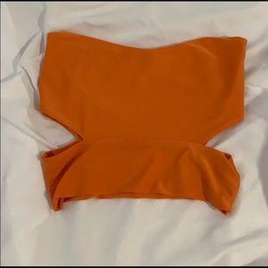 Orange pretty little thing tube top